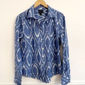 J. Crew perfect shirt in ikat print
